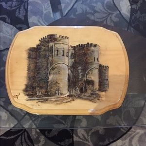 Painting of a castle owned by a Europe artist